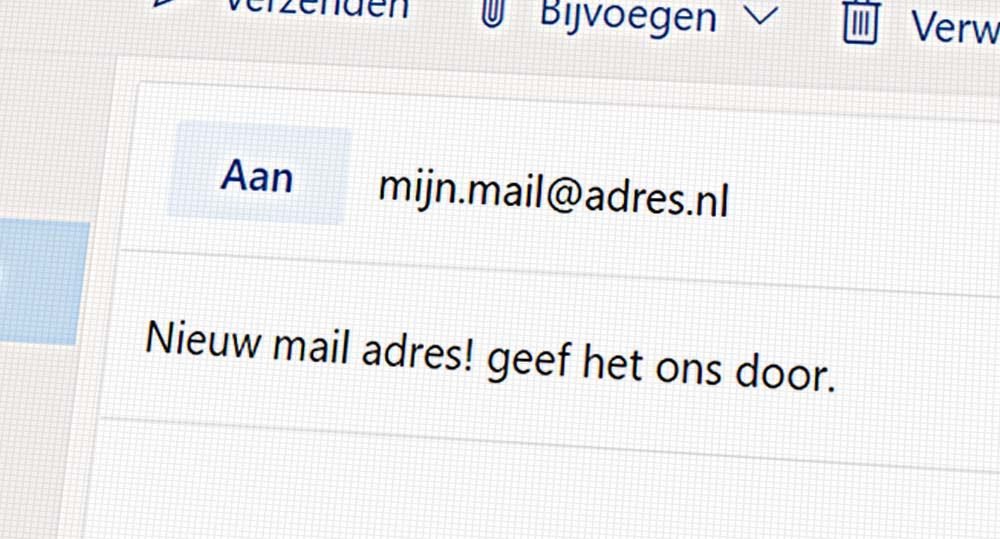 Is jouw e-mailadres up-to-date?